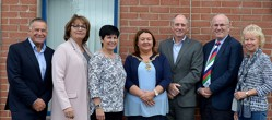 Image shows Cedar CEO and Executive Committee with Mayor of Derry City and Strabane District Council, Cllr Michaela Boyle