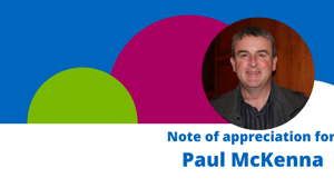 Note of Appreciation for Paul McKenna